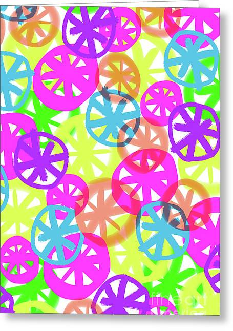 Neon Circles Greeting Card