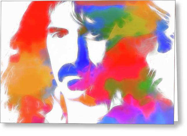 Neon Frank Zappa Greeting Card