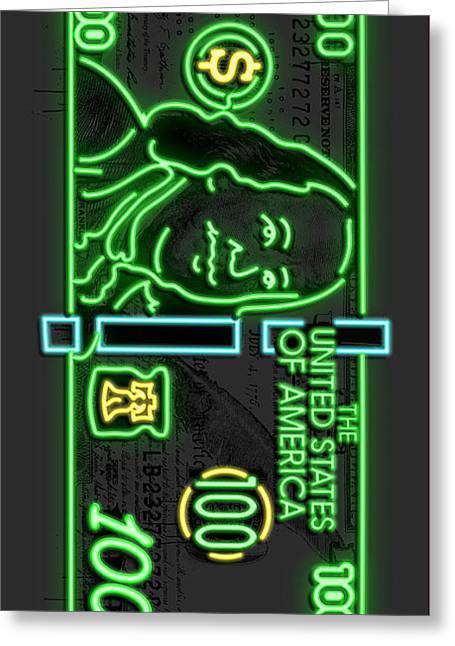 Neon Franks Greeting Card