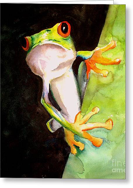 Neon Frog Greeting Card