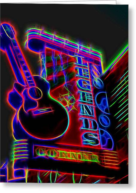 Neon Legends Corner Nashville Greeting Card by Dan Sproul