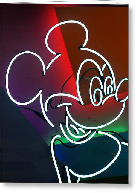 Neon Mickey Greeting Card
