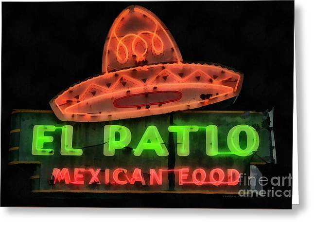 Neon Sign Series Mexican Food Austin Texas Greeting Card by Edward Fielding
