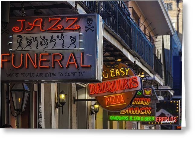 Neon Signs New Orleans Greeting Card