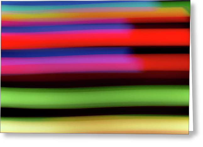 Neon Stripe Greeting Card