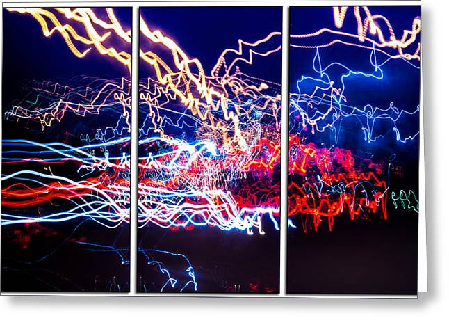 Neon Ufa Triptych Number 1 Greeting Card