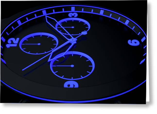 Neon Watch Face Greeting Card