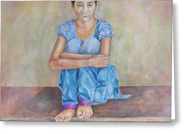 Nepal Girl 4 Greeting Card