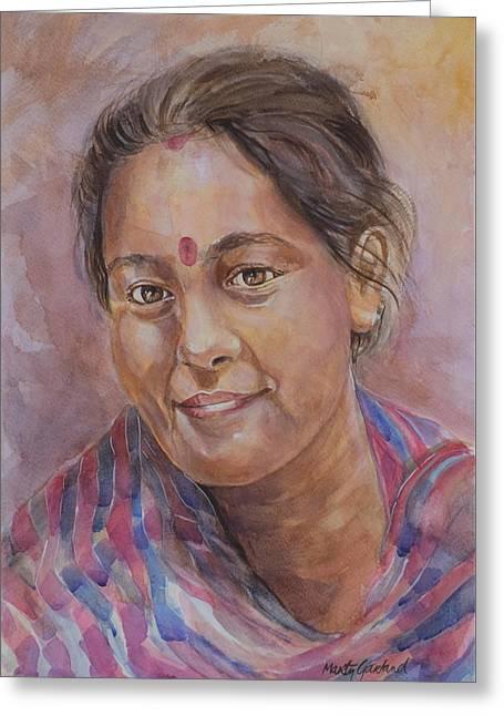 Nepal Girl 6 Greeting Card