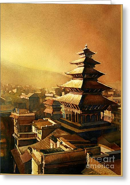 Nepal Temple Greeting Card