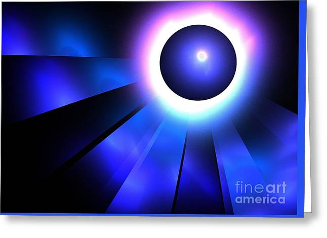 Neptune Eclipse Greeting Card by Kim Sy Ok