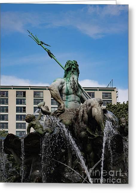 Neptune Statue Greeting Card