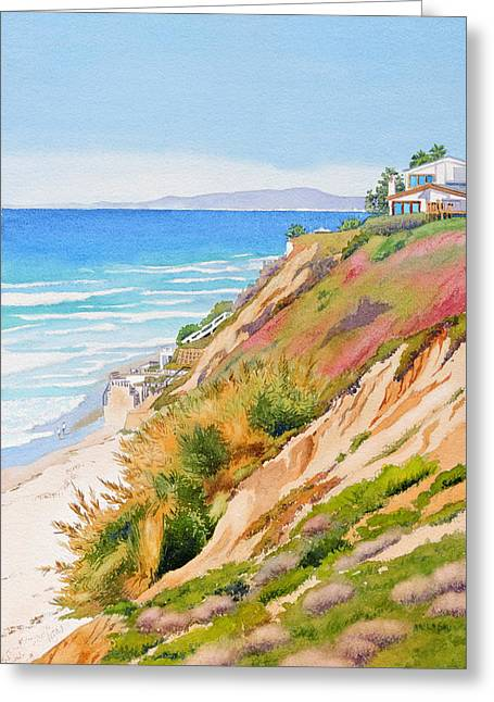 Neptune's View Leucadia California Greeting Card by Mary Helmreich