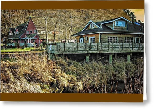 Neskowin Trading Company And Cafe On Hawk Creek  Greeting Card by Thom Zehrfeld