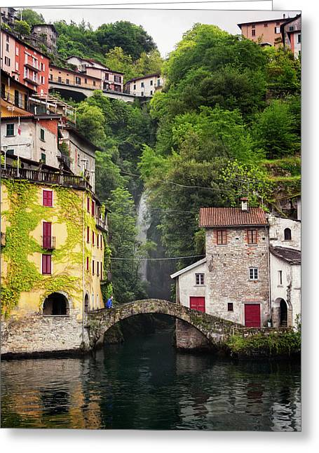 Nesso On Lake Como Italy Greeting Card by Joan Carroll