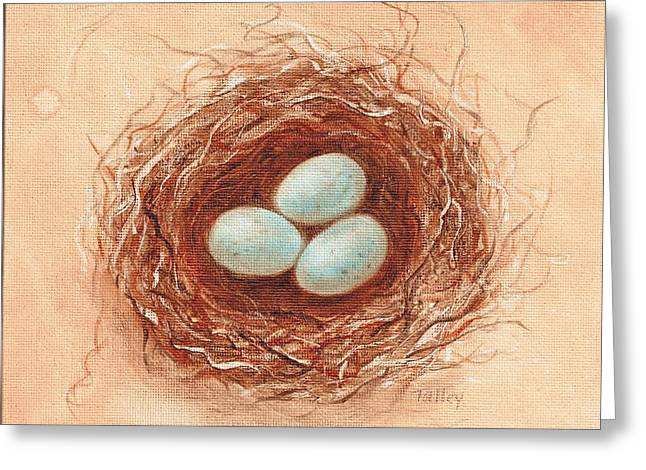 Nest In Umber Greeting Card