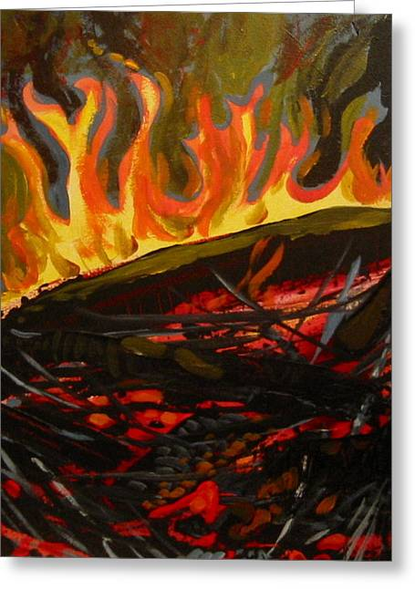 Nest On Fire Greeting Card
