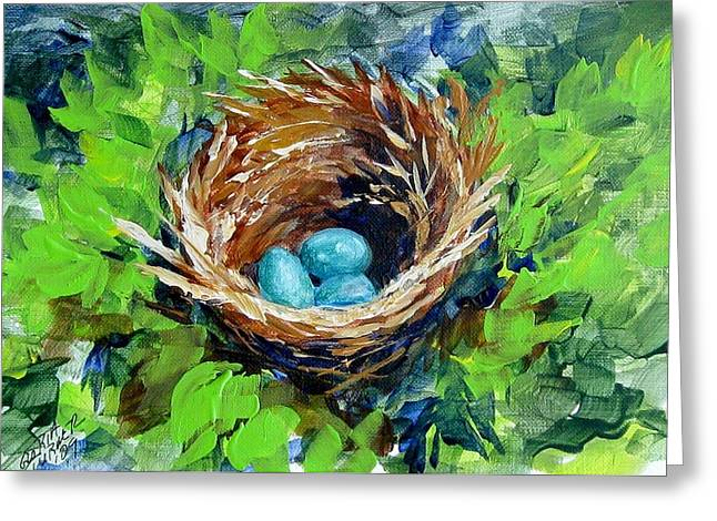 Nesting Eggs Greeting Card