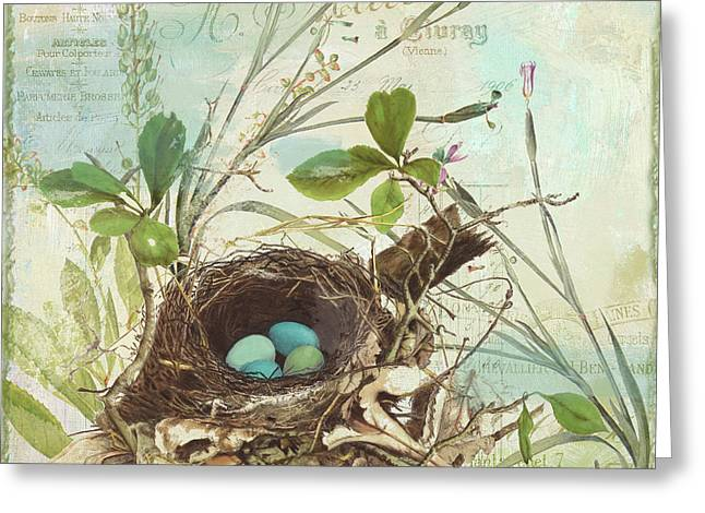 Nesting I Greeting Card by Mindy Sommers