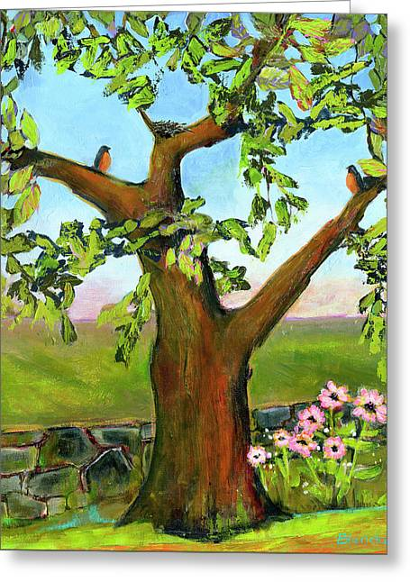Nesting Tree Greeting Card by Blenda Studio
