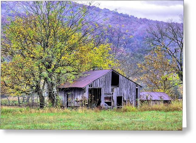 Nestled In The Buffalo Valley  Greeting Card by JC Findley