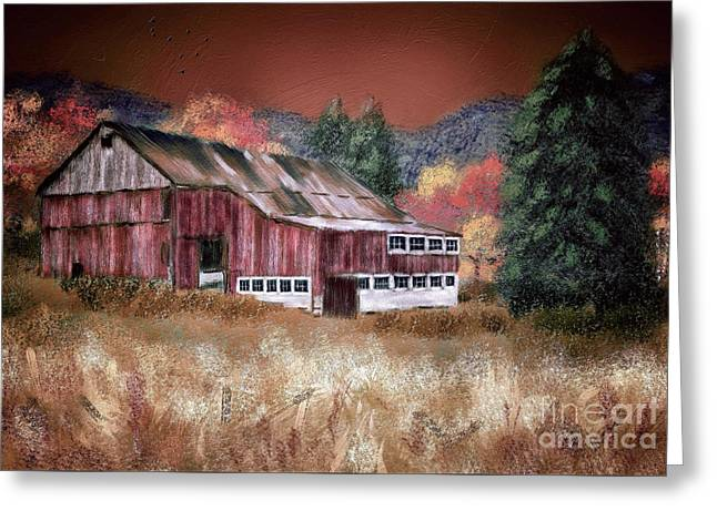 Nestled In The Laurel Highlands Greeting Card by Lois Bryan