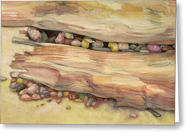 Nestled Stones Greeting Card by Barbara Hranilovich