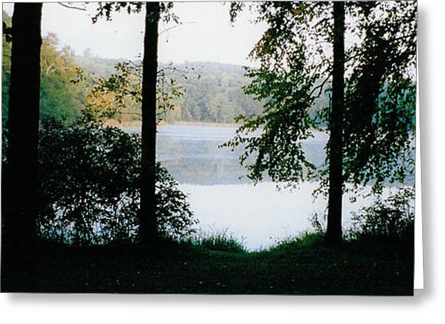 Nestling Lake Greeting Card by Tom Hefko