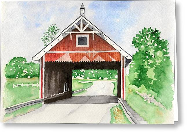 Netcher Road Bridge Greeting Card by Laurie Anderson