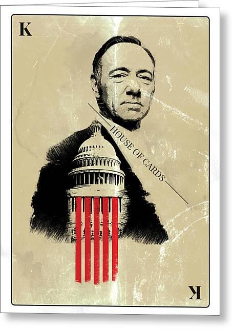 Netflix House Of Cards Frank Underwood Portrait  Greeting Card