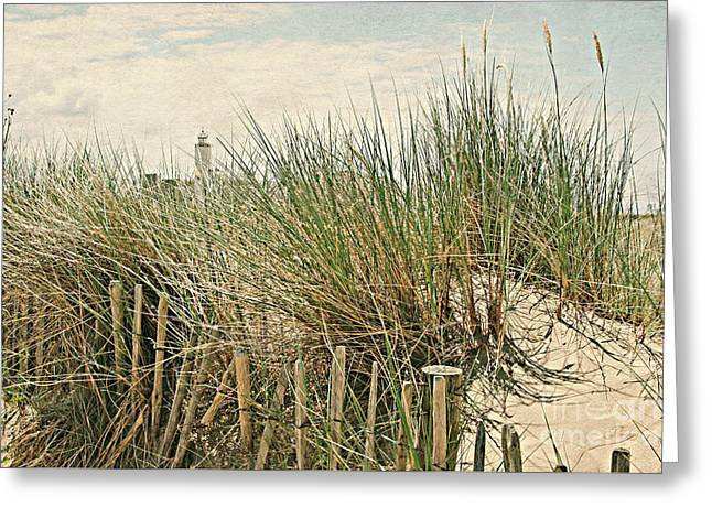 Netherlands - Dunes And Lighthouse Greeting Card