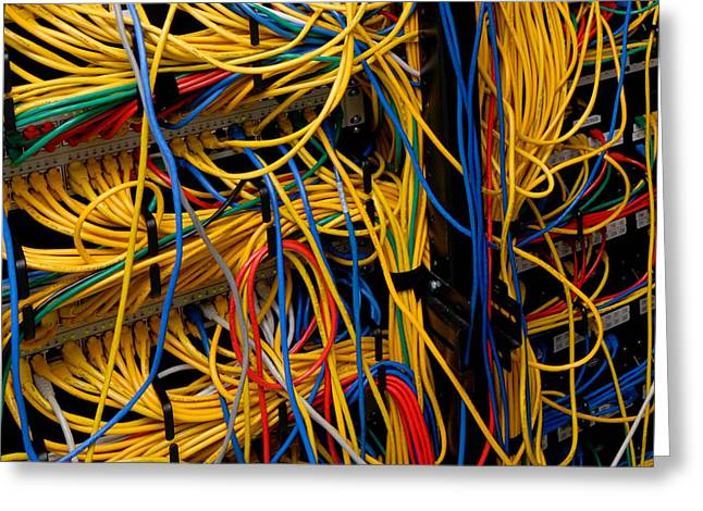 Network Cables Greeting Card