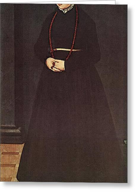 Neufchatel Nicolas Portrait Of The Wife Of Hendrik Pilgram Greeting Card