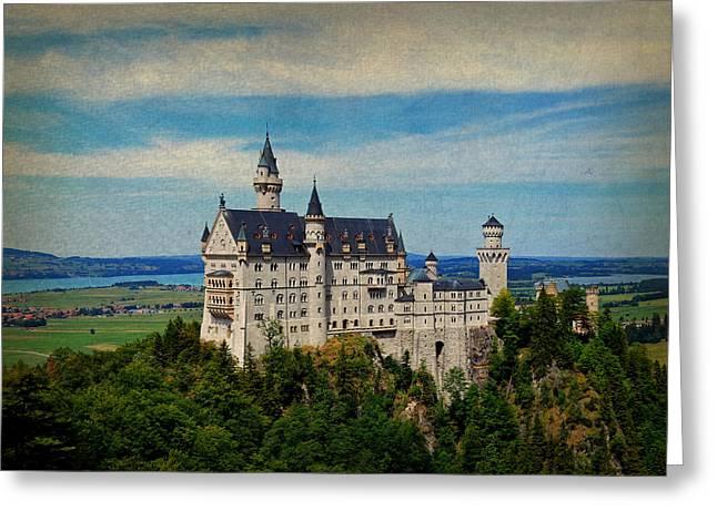 Neuschwanstein Castle Bavaria Germany Vintage Postcard Image Greeting Card by Design Turnpike