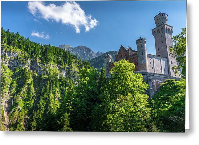 Neuschwanstein Castle Greeting Card by David Morefield