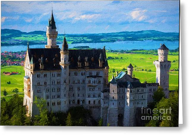 Neuschwanstein Castle 3- Bavaria - Germany Greeting Card by Gary Whitton