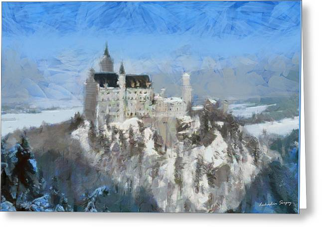 Neuschwanstein Castle Greeting Card by Sergey Lukashin