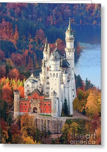 Neuschwanstein - Germany Greeting Card by Henk Meijer Photography