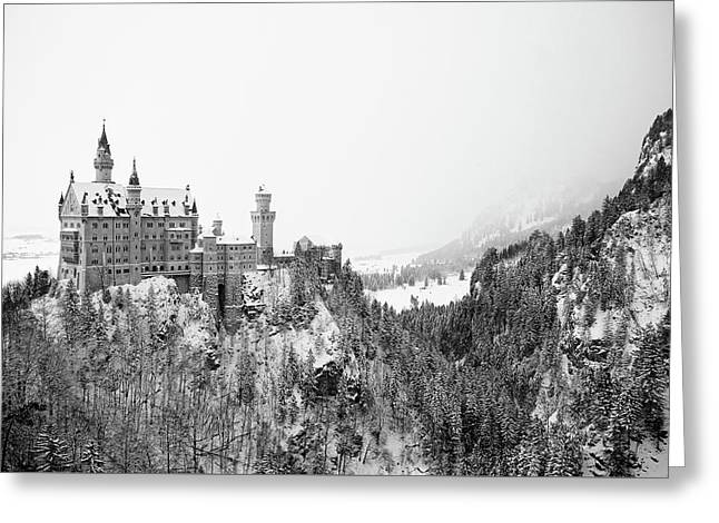 Neuschwanstein In Winter Greeting Card by Nic Benedict