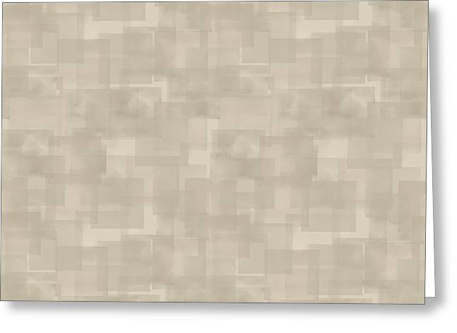 Neutral Brown Abstract Pattern Greeting Card