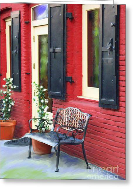 Nevada City Bench Greeting Card