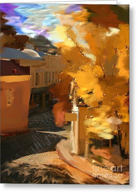 Nevada City In Fall Greeting Card