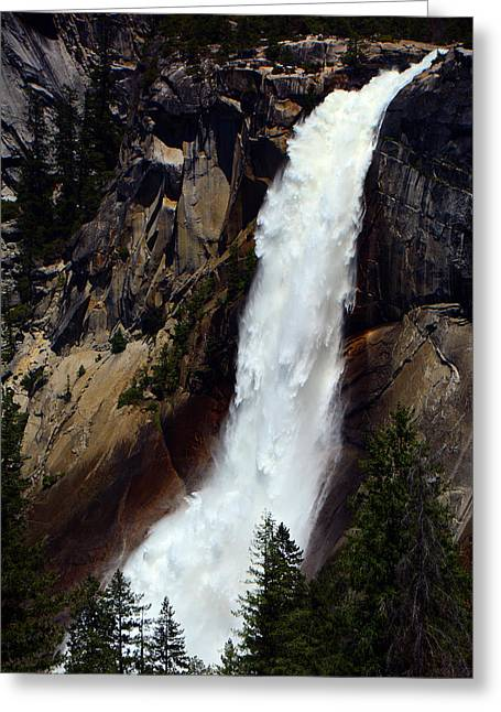 Nevada Falls Greeting Card by Raymond Salani III