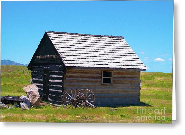 Nevada Log Cabin Greeting Card