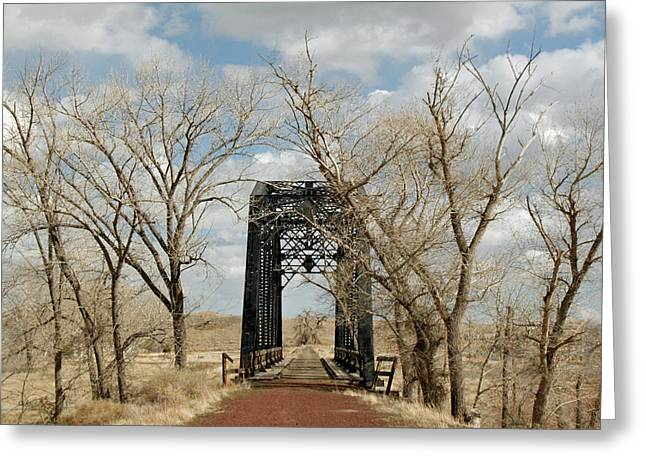 Nevada Railroad Bridge Greeting Card