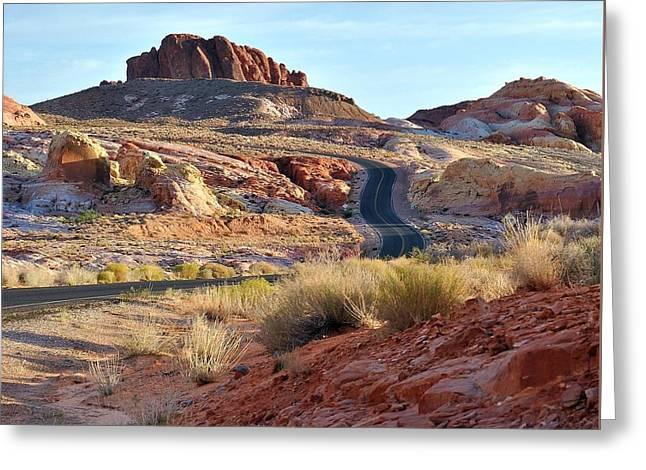 Nevada Rocks 1b Greeting Card