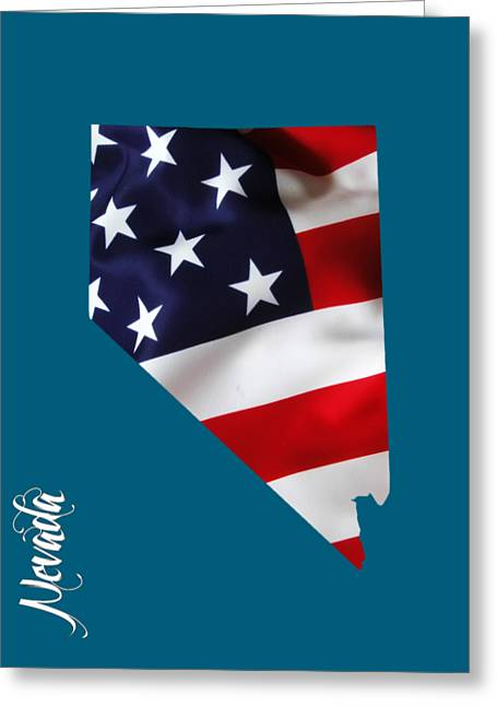 Nevada State Map Collection Greeting Card