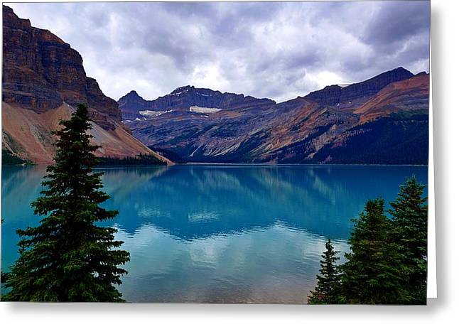 Bow Lake, Banff, Ab  Greeting Card by Heather Vopni