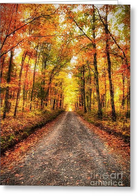 Never Ending Autumn Ap Greeting Card by Dan Carmichael