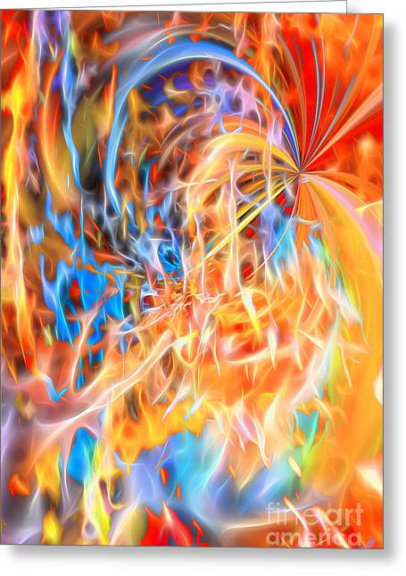 Greeting Card featuring the digital art Never Ending Worship by Margie Chapman